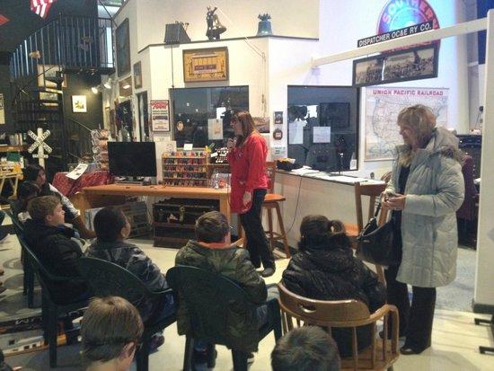 Colorado Model Railroad Museum: Kids learning