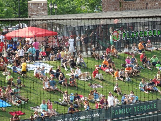Fluor Field at the WestEnd: grassy play area