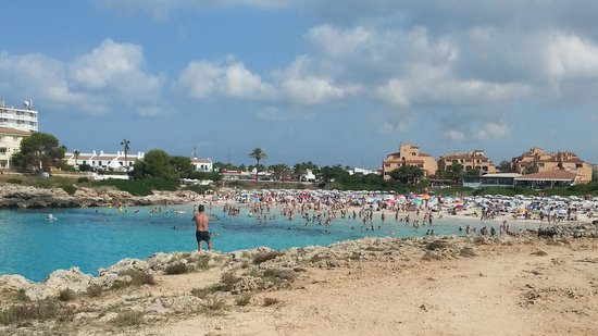 Pueblo Menorquin: One of the two beaches within walking distance