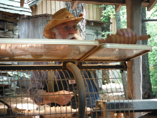 Silver Dollar City: One of the many artisians doing their craft.