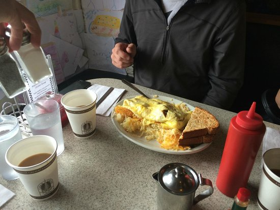 Beth's Cafe: six egg Full House Omelet.
