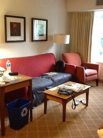 Residence Inn Boston Westford : living room old furniture