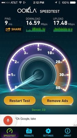 Comfort Suites Golden West on Evergreen Parkway: much faster internet than usual.