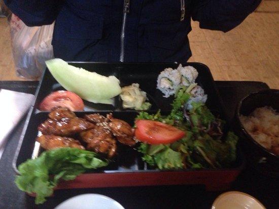 Sen Zushi : Teriyaki Chicken Bento.