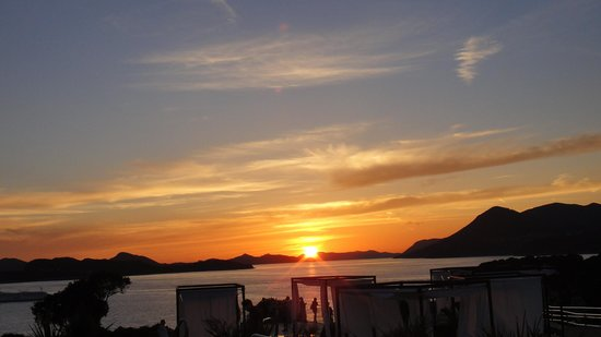 Valamar Lacroma Dubrovnik: Sun Set from the restaurant