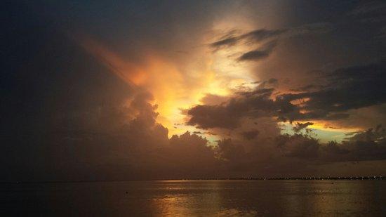 Sailport Waterfront Suites: Breathtaking sunset 8.31.14