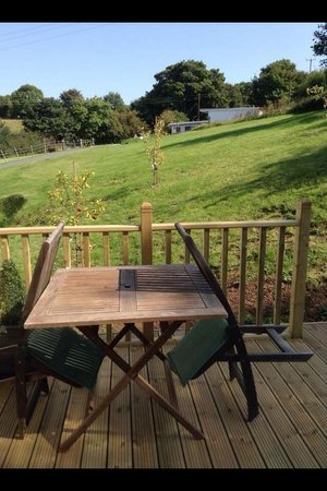 Bryn Goleu B&B: New decking area outside one of the rooms