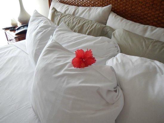 Grand Case Beach Club: Santana always left beautiful fresh flowers all over our room!