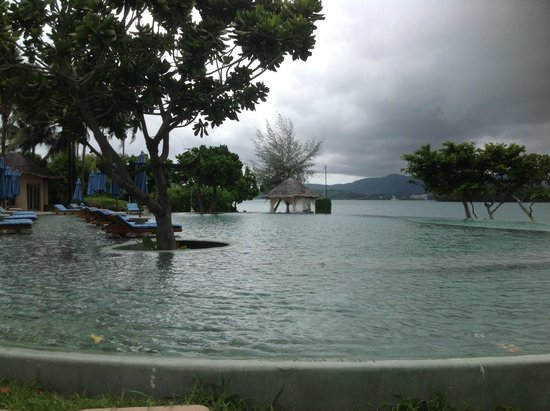 The Naka Island, A Luxury Collection Resort & Spa Phuket: pool view from restaurant