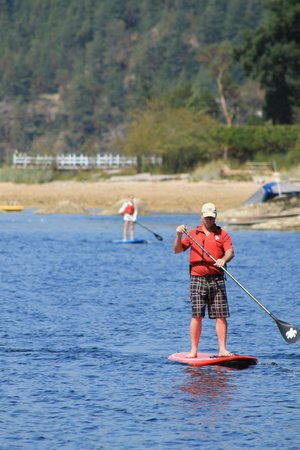 Pedals & Paddles Adventure Sports : Upright Paddle boarding after 10 mins