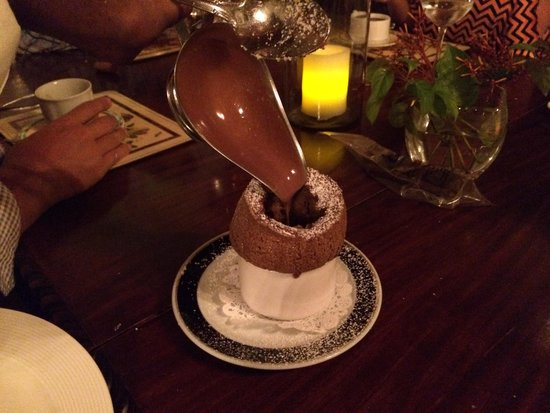 Graycliff Restaurant : Chocolate Soufflé