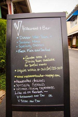 Victoria Inn : Special Board