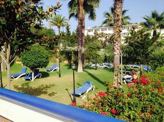 Hotel Apartamentos Vistamar: garden area near pool