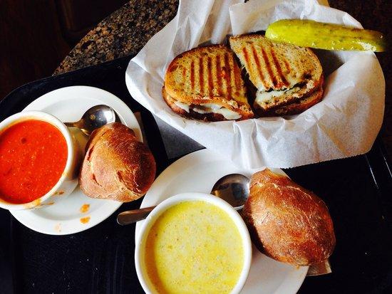 King Arthur Flour: Bakery, Café, School, and Store: Soup and panini sandwich