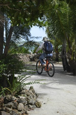 Small Hope Bay Lodge : bikes from tiny to adult available.  Hubby rode the airport to check on our plane.
