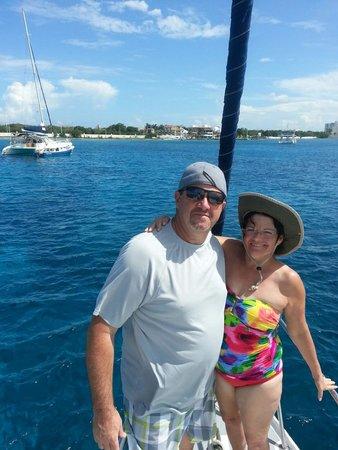 FE Catamaran Sail and Snorkel Cozumel: Heading back to port