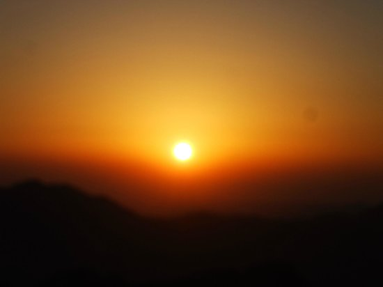 Mount Sinai: The magnificent sunrise on top of Sinai