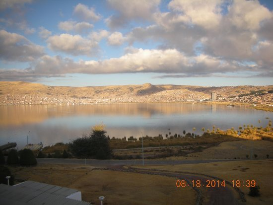 Libertador Lago Titicaca: View of lake Titicaca from hotel