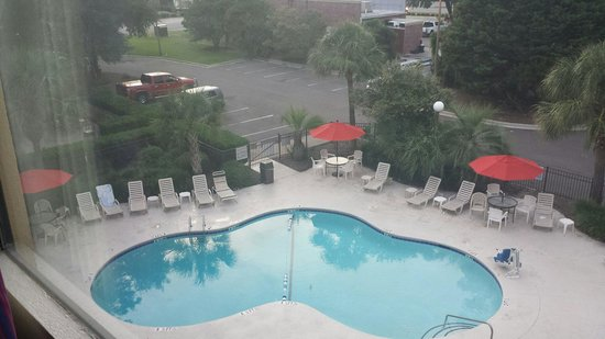 Red Roof Inn Myrtle Beach Hotel - Market Commons: Overhead view of pool