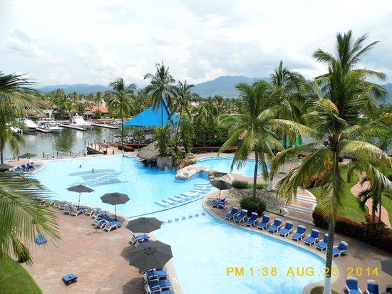 Vamar Vallarta All Inclusive Marina and Beach Resort: La vista de mi habitación.