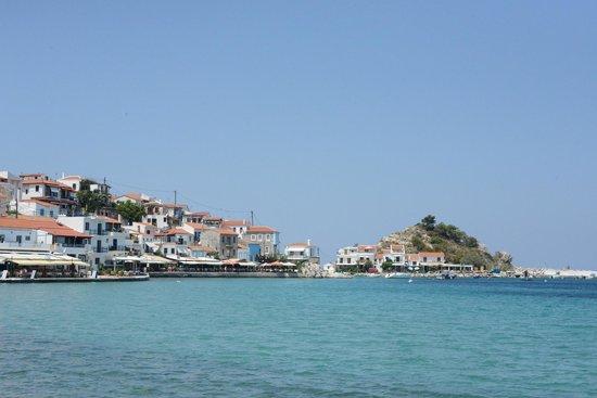 Poseidon Hotel Kokkari Samos Greece: View from the restaurant to the left