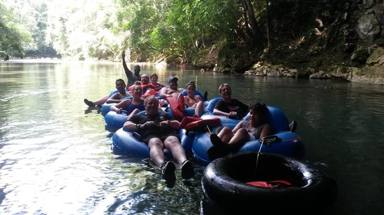 Butts Up Cave Tubing: Cave tubing group (Belize)