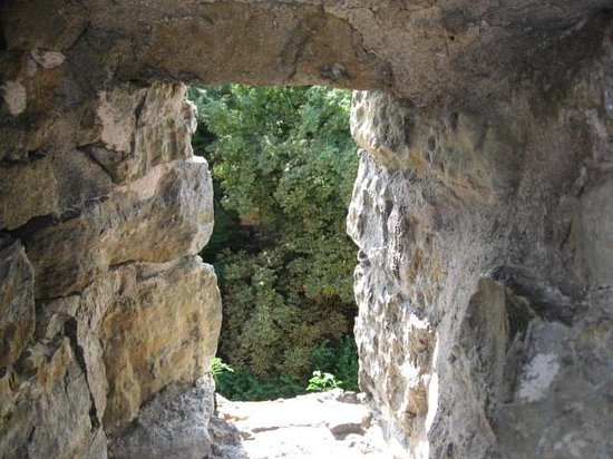 Town Walls : View through wall