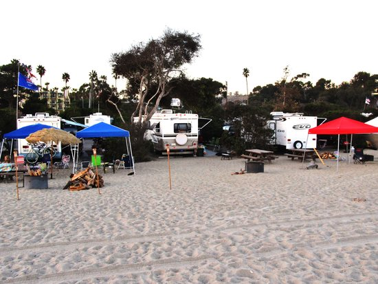 Camping On The Beach Picture Of Doheny State Beach Dana