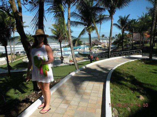 Imira Plaza Hotel: caminho para piscina