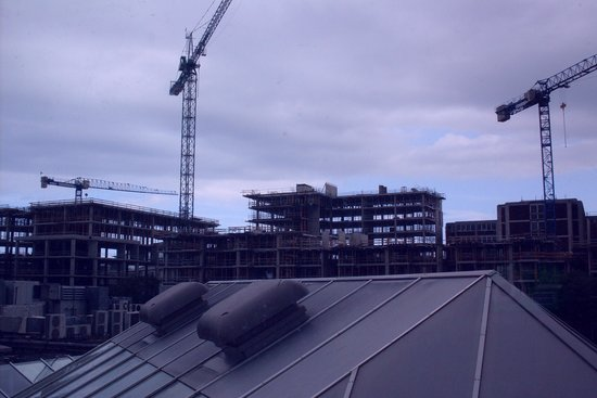 Ballsbridge Hotel: Room with a view...of construction