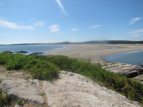 Popham Beach State Park: Main beach from 'island'.