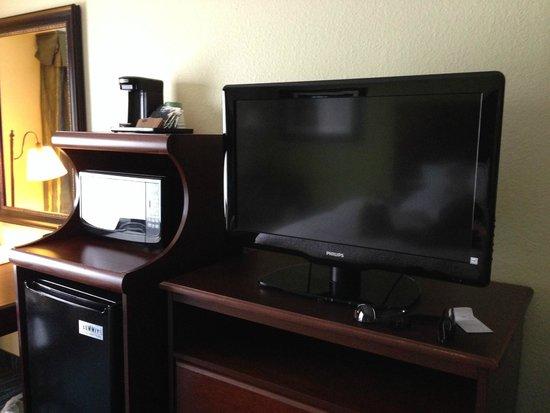 Hampton Inn Perimeter Center: TV/Microwave/Mini Fridge