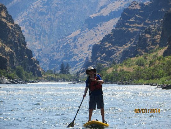 Halfway, OR: stand up paddle on the snake river