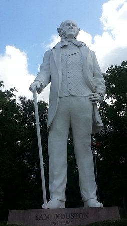 Sam Houston Statue: Sam Houston. Huntsville,TX