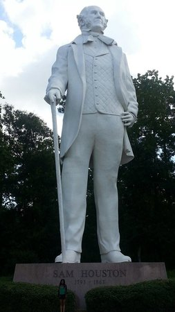 Sam Houston Statue: My daughter next to the statue!