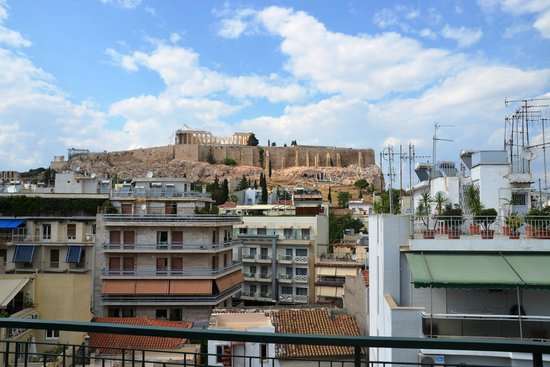 Philippos Hotel: View from the 7th floor room of the Acropolis