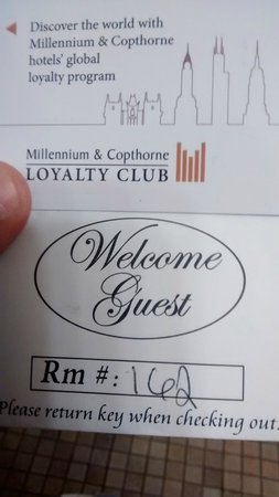 Millennium Buffalo: Hotel room key
