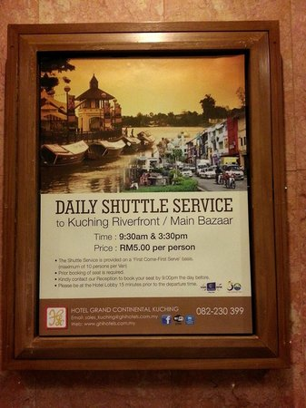 Hotel Grand Continental Kuching: Shuttle