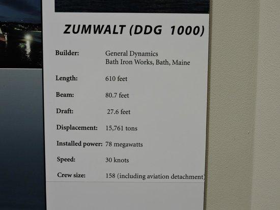 Maine Maritime Museum: USS ZUMWALT DDG 1000