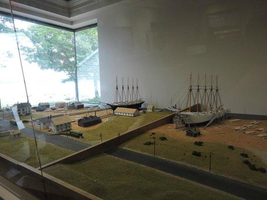 Maine Maritime Museum: BATH SHIP YARDS MODEL