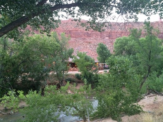 Zion Canyon Brew Pub: View from across the river