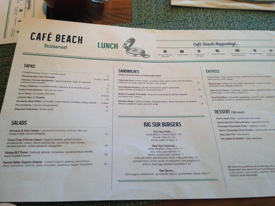 Vizcaino Waterfront Food + Drink : Lunch Menu
