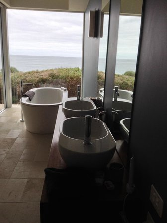 Southern Ocean Lodge : Spectacular bath