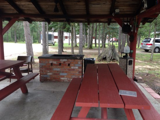 Woodland Motor Lodge : Picnic shelter for movies and cookouts