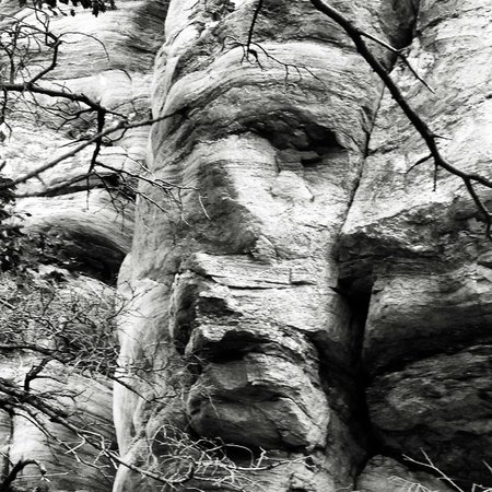 Hanging Rock State Park: Face in Hanging Rock