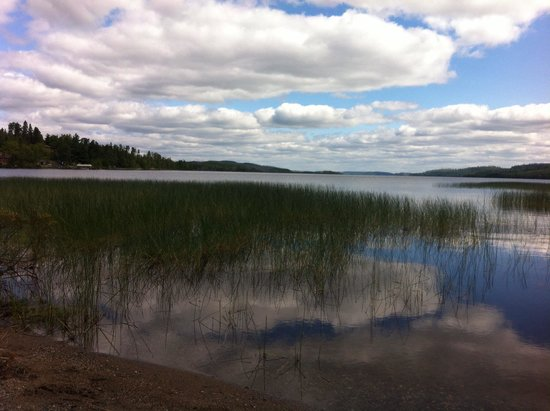 Gunflint Pines Resort & Campgrounds: Fishing by the bridge