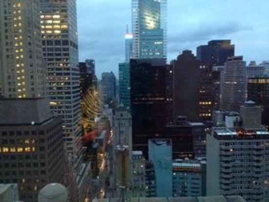 New York Marriott East Side: View from the 35th-floor fitness center