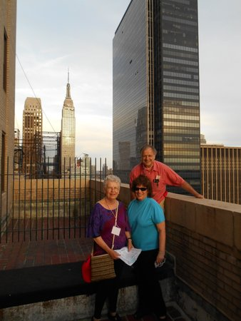 The New Yorker A Wyndham Hotel: Tour companions outside a room on roof