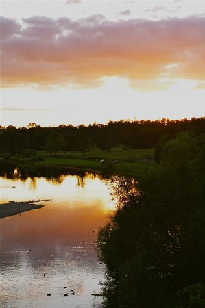 Sunset on the river Tweed from Duncan House