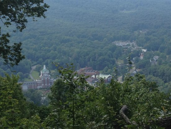 The Omni Homestead Resort: View of the hotel from the mountainside.
